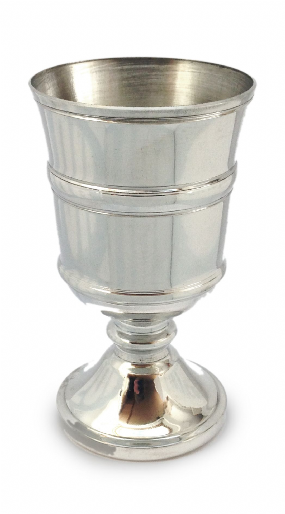 "Tudor Wine Goblet Banded Pewter 12cm / 4.75"" Made in England Engraving and Luxury Box Options"